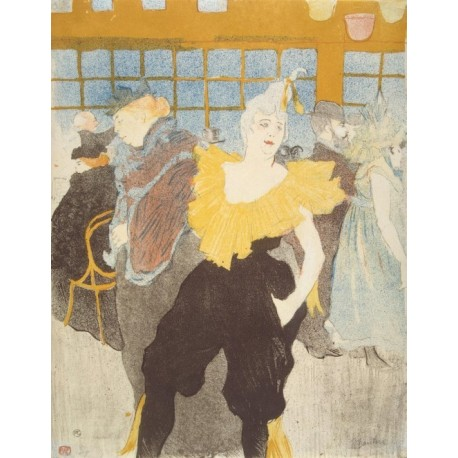 La Clownesse in the Moulin Rouge1897 by Henri de Toulouse-Lautrec-Art gallery oil painting reproductions