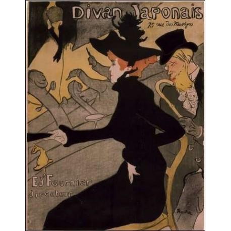 Le divan japonais 1892 by henri de toulouse lautrec for Divan japonais toulouse lautrec