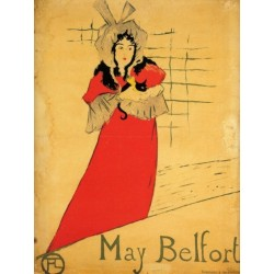 May Belfort 1895 by Henri de Toulouse Lautrec-Art gallery oil painting reproductions