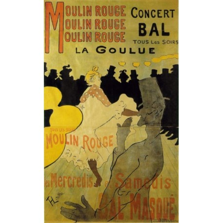 Moulin Rouge 1891 by Henri de Toulouse-Lautrec-Art gallery oil painting reproductions
