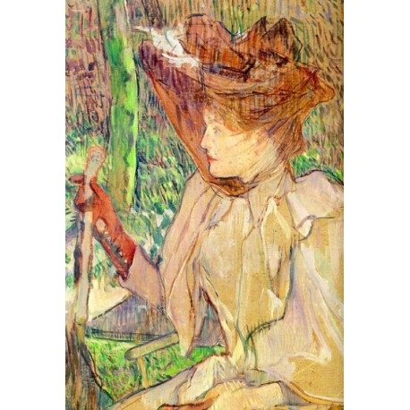 Portrait of Honorine Platzer 1891 by Henri de Toulouse-Lautrec-Art gallery oil painting reproductions