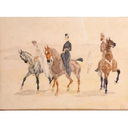 Riders 1882 by Henri de Toulouse-Lautrec-Art gallery oil painting reproductions