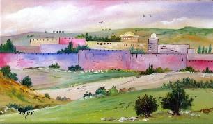 Jerusalem II modern oil painting