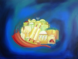 Jerusalem abstract modern oil painting
