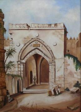 Jerusalem Street modern oil painting
