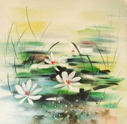 Lilly Pond oil painting