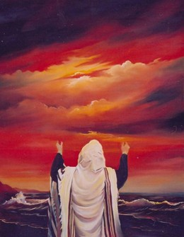 Praying by the sea modern oil painting