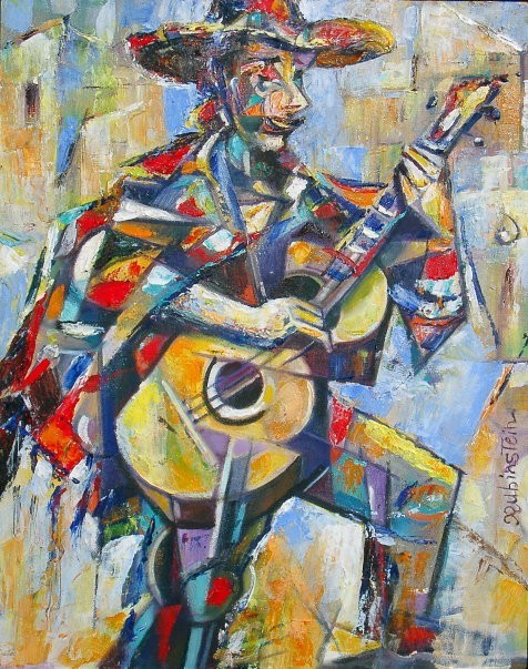 Israel rubinstein the mexican jew jewish art oil for Israeli artists oil paintings